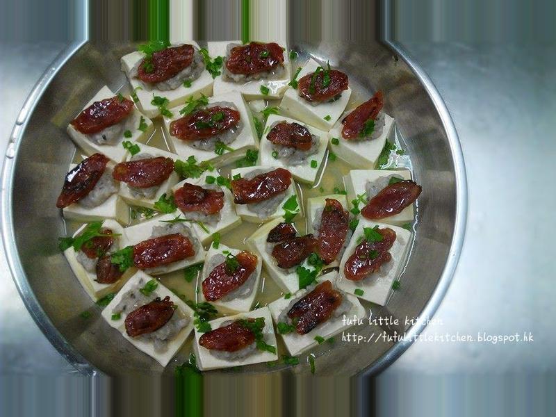 臘腸魚肉蒸豆腐