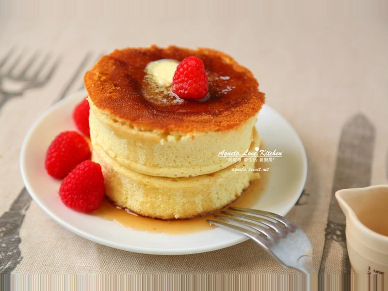 [阿妮塔♥sweet] 舒芙蕾厚片鬆餅(日式厚鬆餅)。(平底鍋料理)