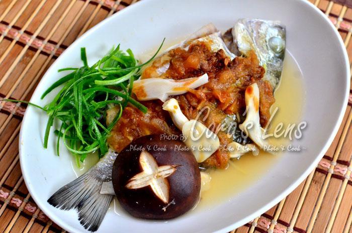 筍醬蒸黑格魚