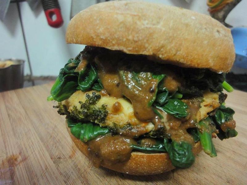 蔬食豆腐漢堡
