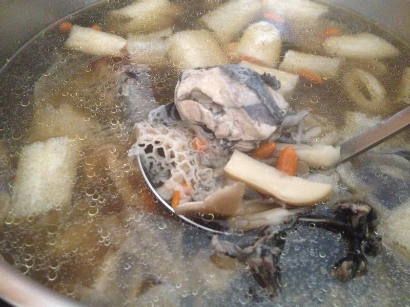 養生菇菇烏骨雞湯