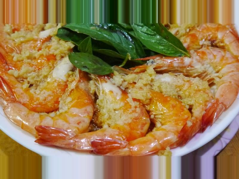 奶油蒜泥蒸蝦