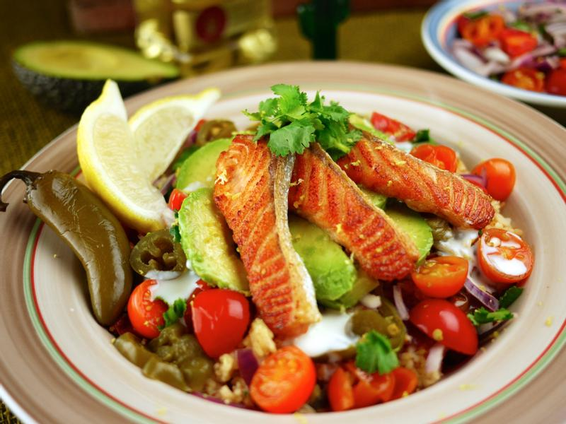 墨西哥風鮭魚番茄飯 466卡/份