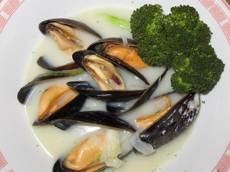淡菜~藍牡蠣湯