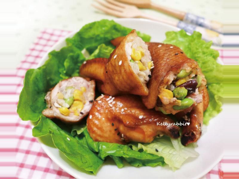 雞翅鑲時蔬