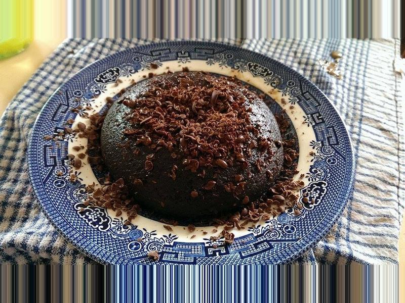 巧克力布丁蛋糕(微波版)