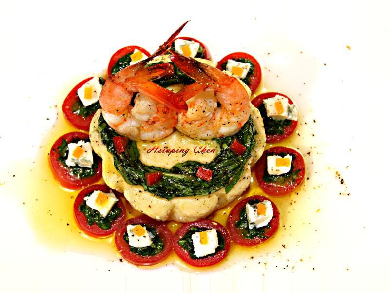 鮮蝦蔬果布蕾