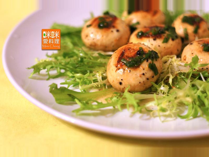 Mimi♥烤洋菇沙拉【瘦身料理】