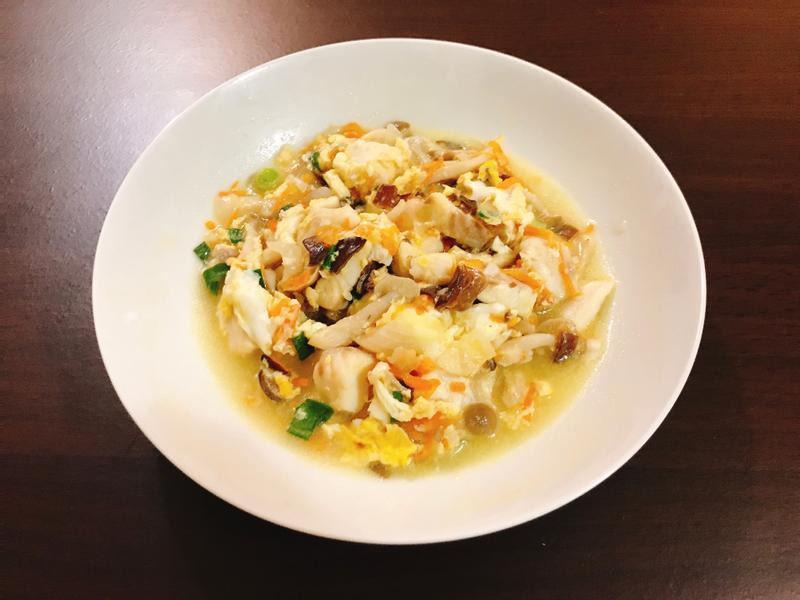 滑蛋山藥鯛魚(減醣料理)