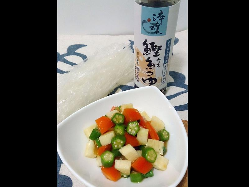日式涼拌秋葵~淬釀日式下午茶點