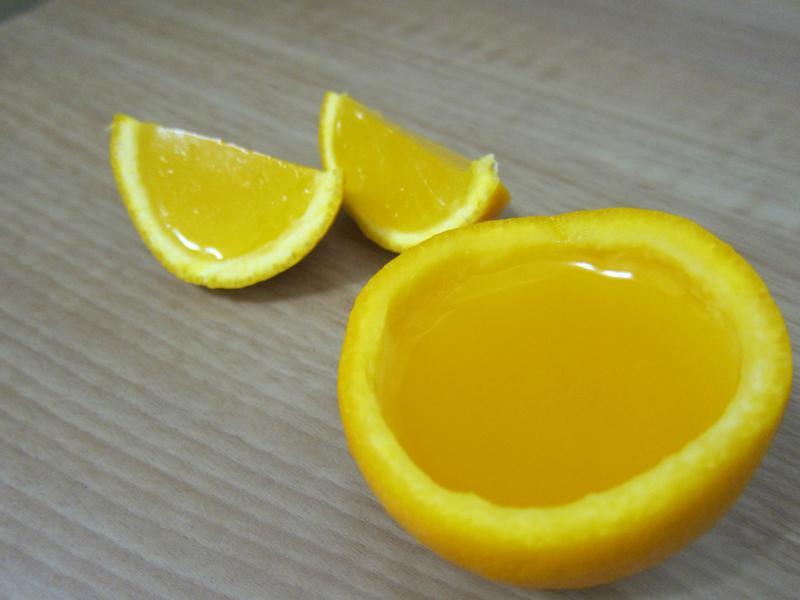 香橙杯果凍