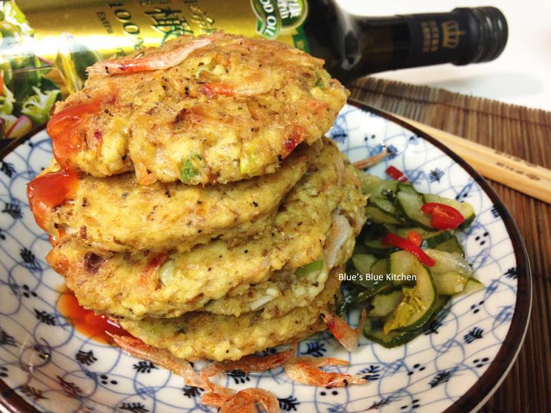 櫻花蝦香煎豆腐排-泰山橄欖油