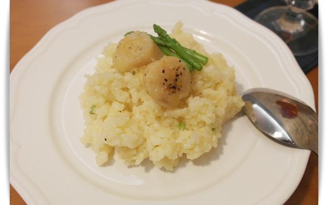 干貝蘆筍燉飯~~鮮味緩緩化開來!!