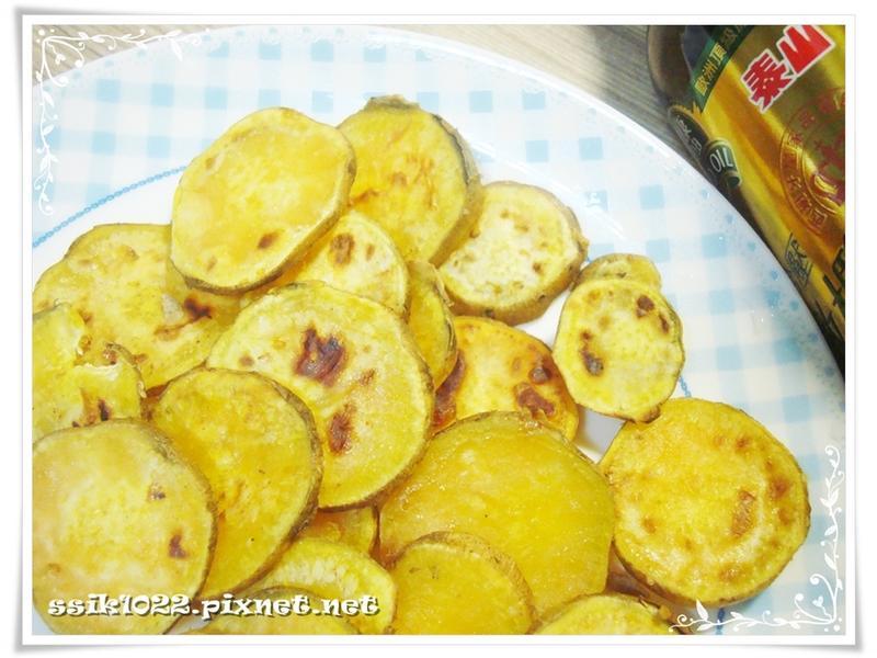 香煎地瓜片 ♪ 泰山橄欖油 (平底鍋版)
