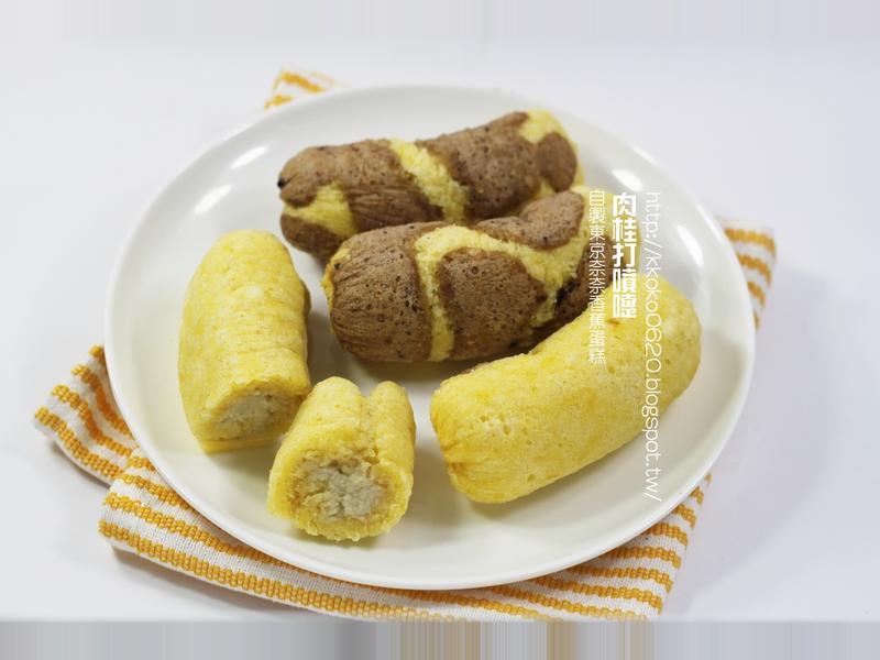 自製東京奈奈香蕉蛋糕(長頸鹿紋)