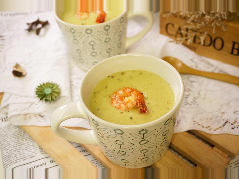 花椰菜鮮蝦濃湯[聲寶全營養豆漿機]