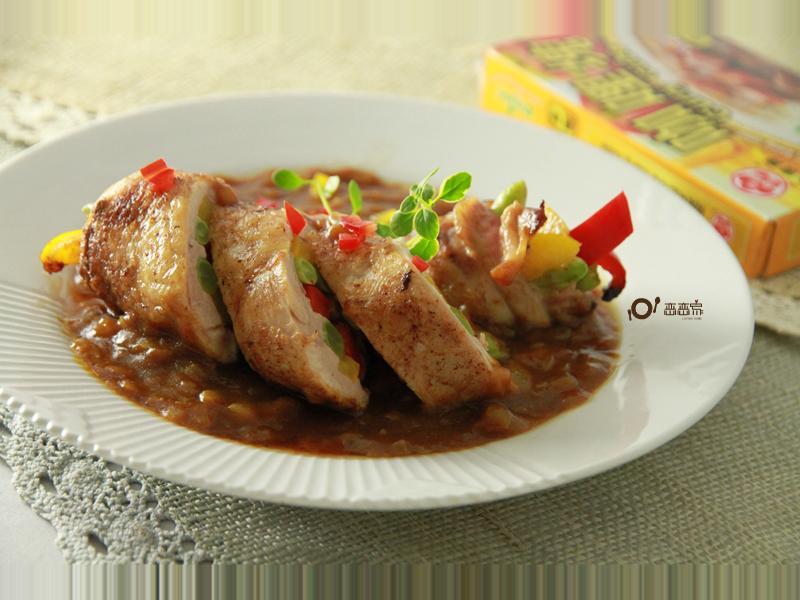 彩蔬雞肉咖哩捲~牛頭牌咖哩塊