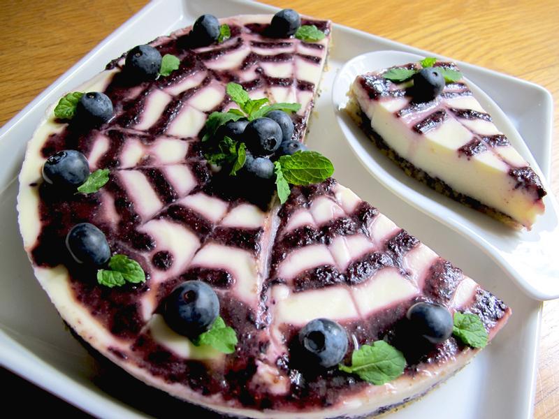 藍莓鮮乳酪蛋糕 -夏日冰涼凍蛋糕