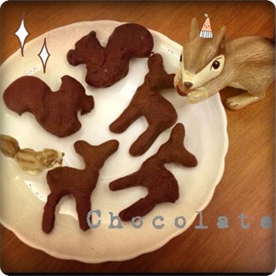 松鼠&小鹿巧克力吐司餅乾-可愛小小心意!