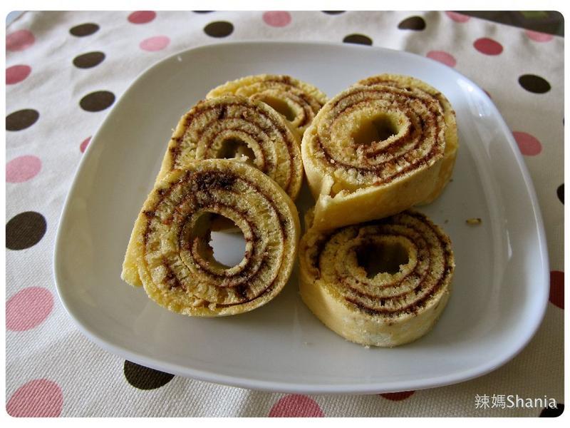 鬆餅粉做巧克力年輪蛋糕
