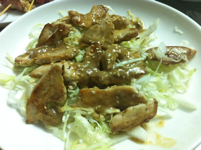 胡麻雞肉沙拉
