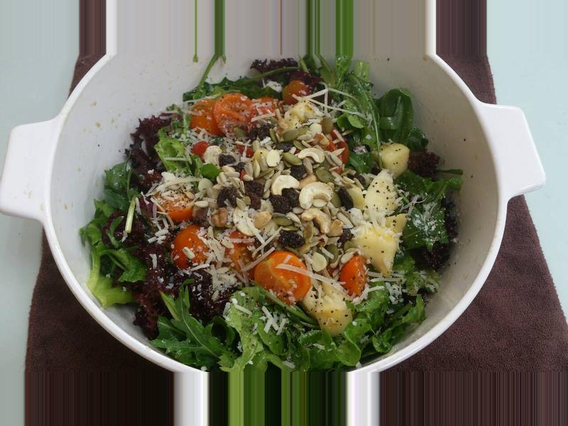 芝麻菜水果老醋沙拉