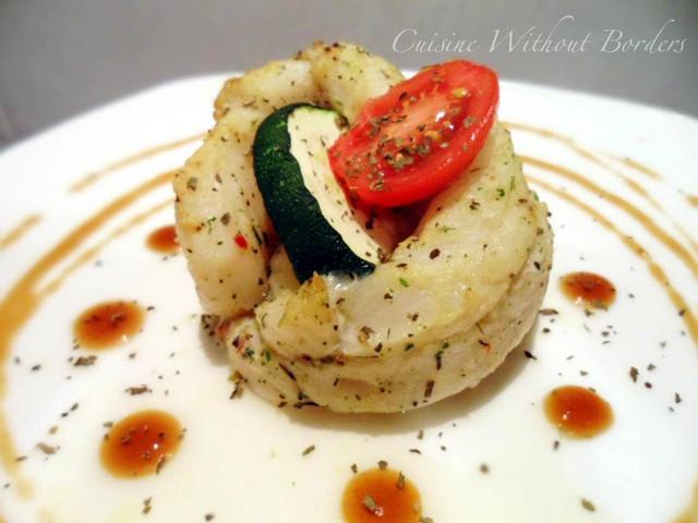 烤鮮蔬石鯛捲