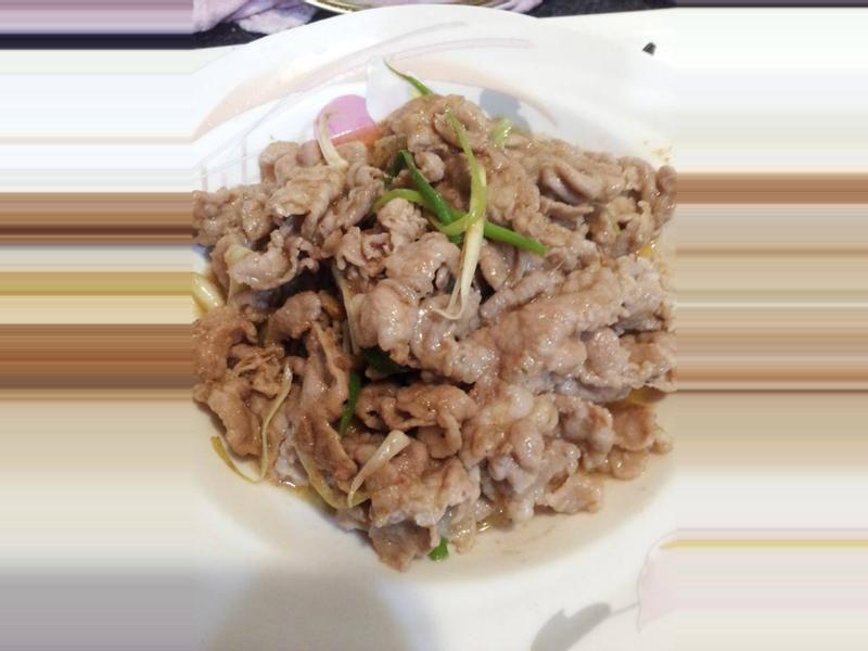沙茶炒豬肉片