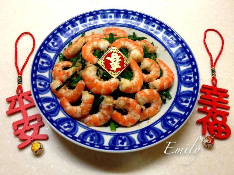 XO干貝醬韭菜花炒蝦仁