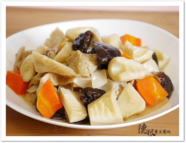 素滷烤麩竹筍