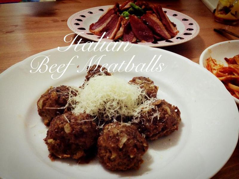 義大利牛肉丸子 Italian beef meatballs