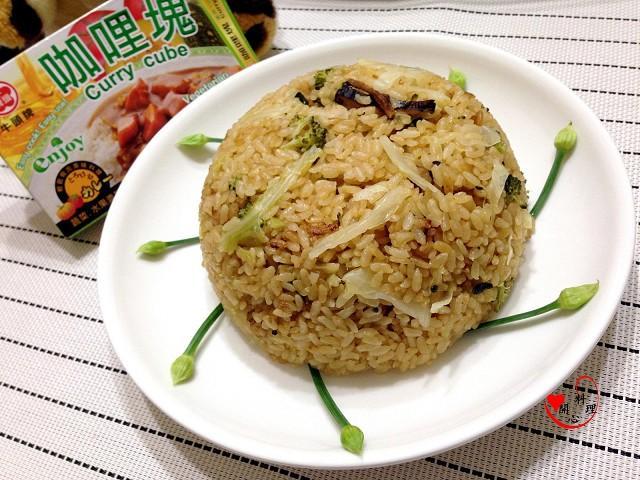 電鍋咖哩菜飯(可素食)[牛頭牌咖哩塊]