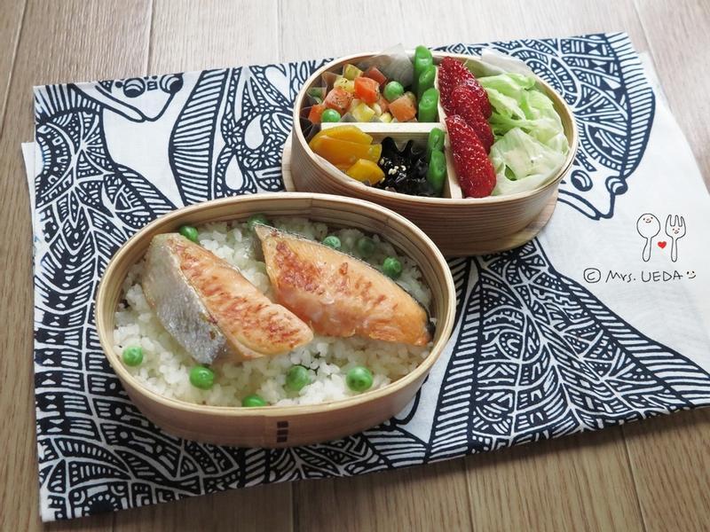 奶油煎銀鮭日式便當(上田太太愛料理)