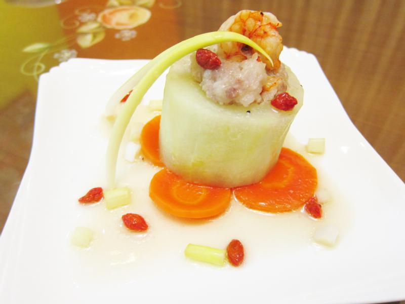 鮮蝦黃瓜盅