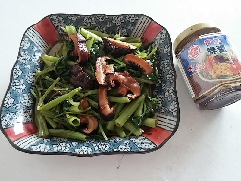 椎茸空心菜佐沙茶拌醬『牛頭牌端午好香拌』