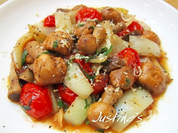 奶油番茄蘑菇燒