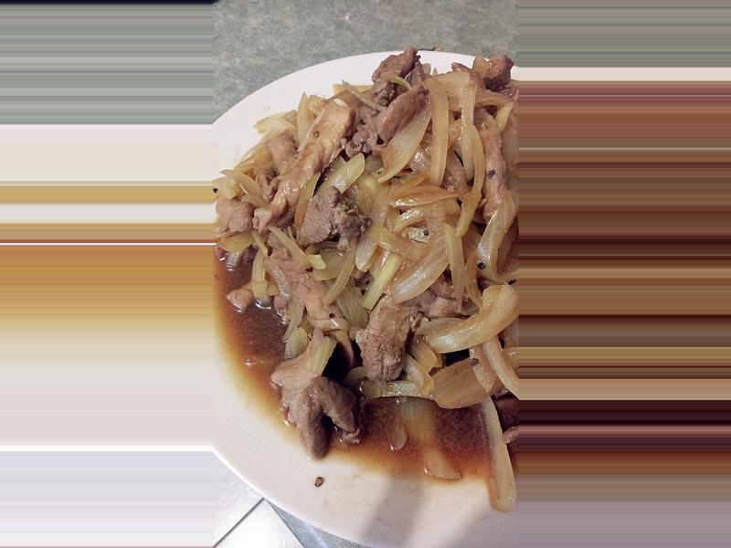 黑胡椒豬柳