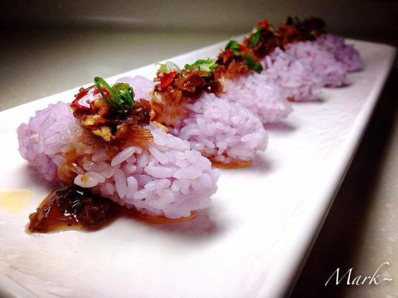 【彩色米】XO醬紫彩米飯
