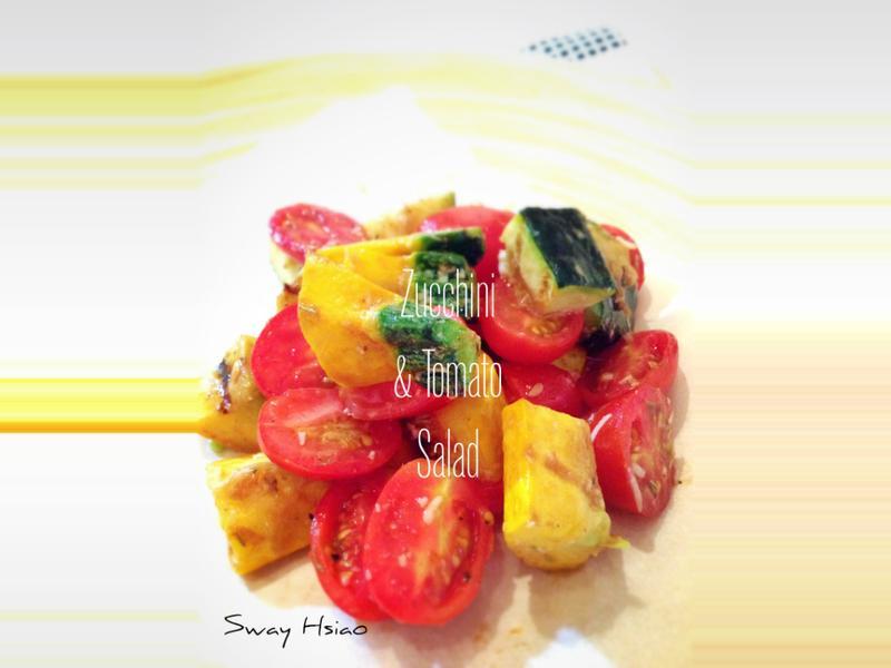 櫛瓜蕃茄沙拉 Zucchini and Tomato Salad