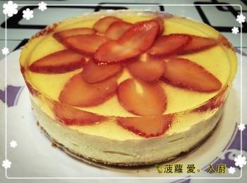 草莓豆腐芝士凍餅