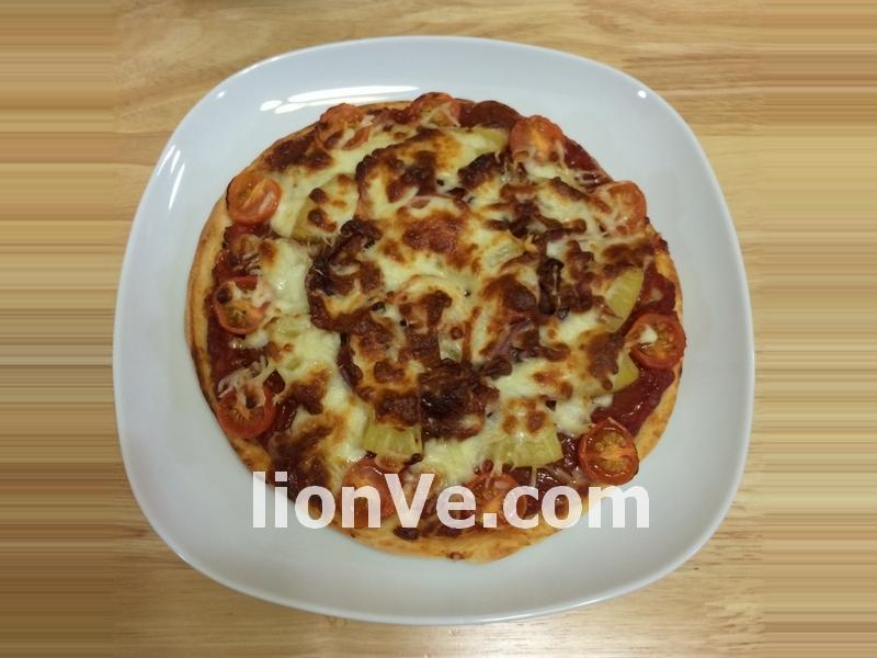 菠蘿煙燻豬肉Pizza 【Panasonic 製麵包機】