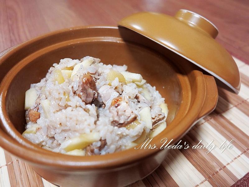 蘋果紅茶雞炊飯-上田太太抗貧幸福料理