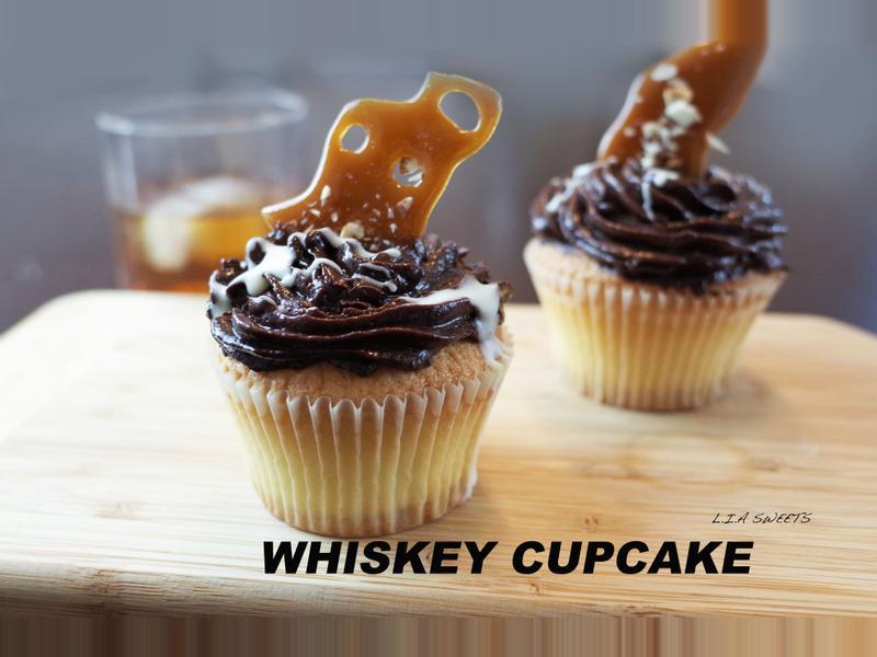 Whiskey巧克力杯子蛋糕