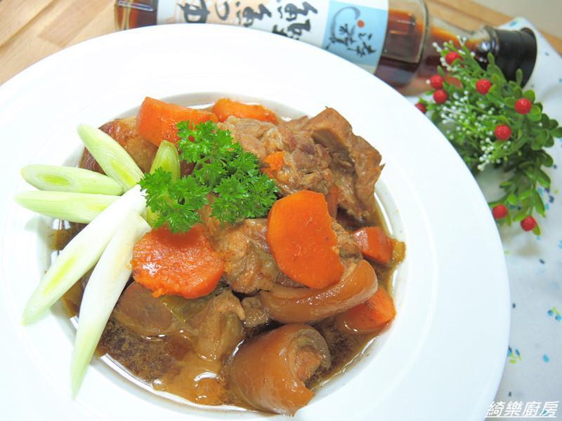 蒜苗地瓜燉豬肉✿淬釀開運年菜