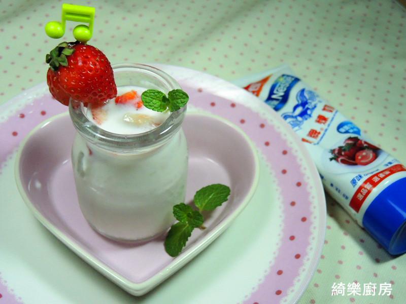 草莓煉奶優酪乳【草莓就愛鷹牌煉奶】