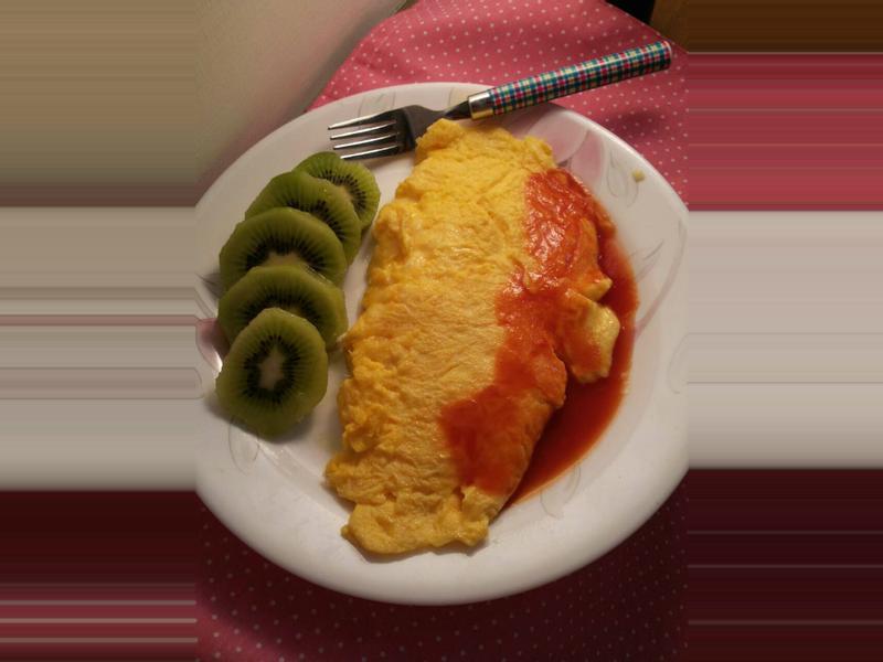 ♥肥肥舒的女王早餐♥起士歐姆蛋