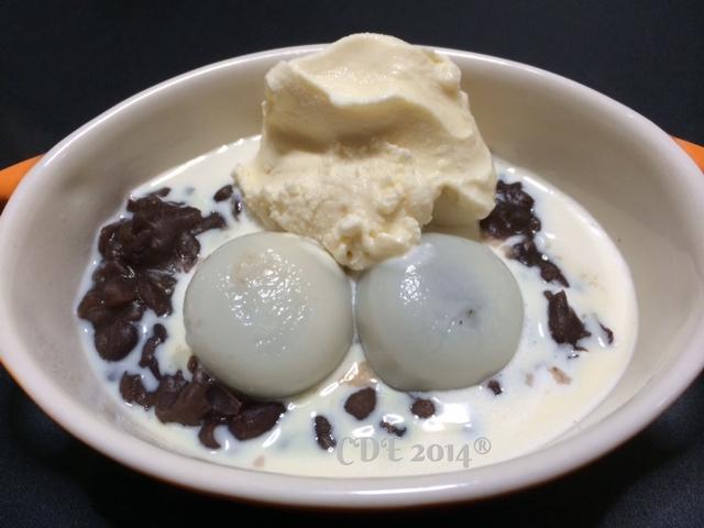 CDE之蜜紅豆湯圓配香草冰淇淋