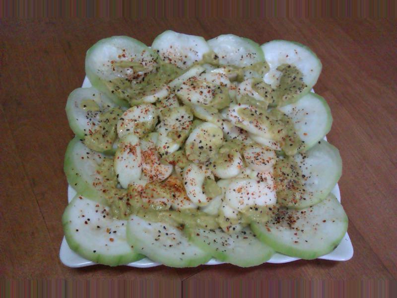絲瓜筊白筍佐酪梨醬