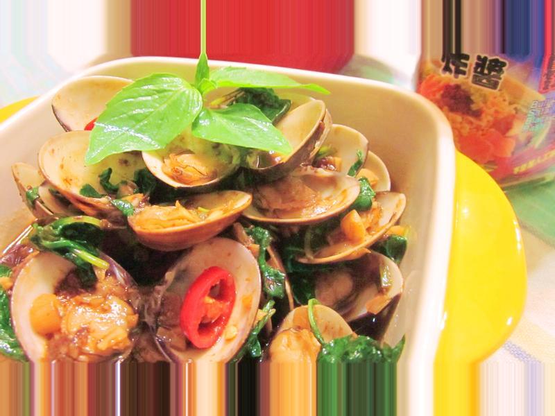 塔香炸醬炒蛤蜊『牛頭牌端午好香拌』
