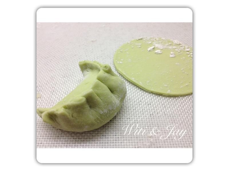 [Witi✿Kitchen](麵包機-餃子皮)波菜皮素煎餃